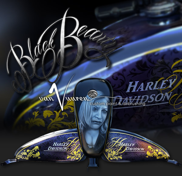 Custom Paint and airbrushed Harley Davidson Sportster Forty Eight Motorcycle
